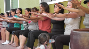 Rich Tola teaches Yoga at domestic violence shelter